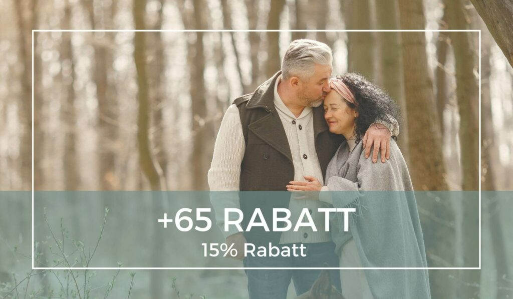 65 plus rabatt